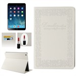 Fancy iPad Air dekorativt etui (Hvid)
