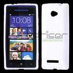 S-Line HTC 8X Silicone Cover - Hvid