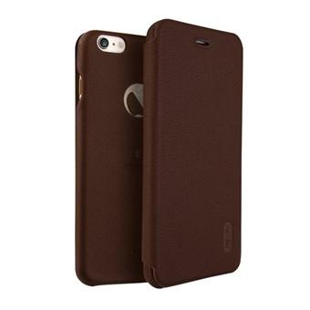 Image of   Lenuo Art Flip Etui i PU Læder og Plast til iPhone 7 Plus / iPhone 8 Plus - Brun