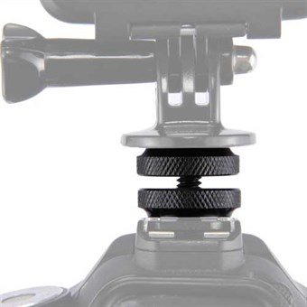"Image of   PULUZ® Hot Shoe Mount Adapter 1/4"" til GoPro/ digitalkamera"