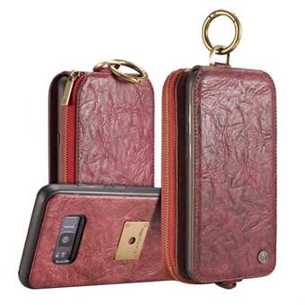 Image of   CaseMe stylish Pung i PU Læder m/ magnetisk Cover i Plast til Samsung Galaxy S8 - Rød