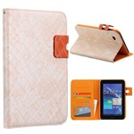 Turtle Design Case - Samsung Galaxy Tab 7.0 / 2 7.0 (Creme)