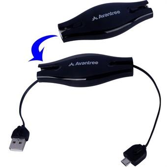 Image of   Avantree Viva Micro optrækkeligt sync opladningskabel (Sort)