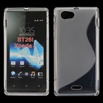 S-line Silicone Cover - XPeria J (gennemsigtig)