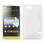 S-Line Silicone Cover - Xperia Go (Gennemsigtig)
