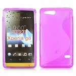 S-Line Silicone Cover - Xperia Go (pink)