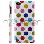 iPod Touch 5/6 Cover Dots (hvid, multicolor)