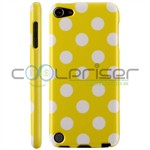 iPod Touch 5/6 Cover Dots (gul, hvid)