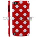 iPod Touch 5/6 Cover Dots (rød, hvid)
