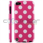 iPod Touch 5/6 Cover Dots (lyserød, hvid)
