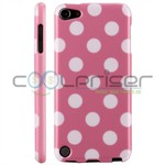 iPod Touch 5/6 Cover Dots (baby-lyserød, hvid)