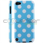 iPod Touch 5/6 Cover Dots (baby-blå, hvid)