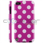 iPod Touch 5/6 Cover Dots (lilla, hvid)