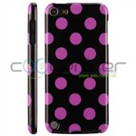 iPod Touch 5/6 Cover Dots (lilla, sort)