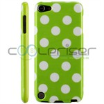 iPod Touch 5/6 Cover Dots (grøn, hvid)