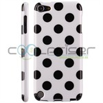 iPod Touch 5/6 Cover Dots (hvid, sort)