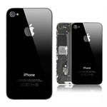 Bagcover til iPhone 4S (Sort)