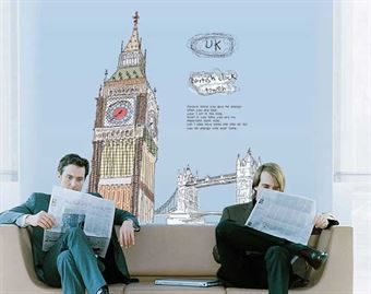Image of   Wall Stickers - Big ben, England