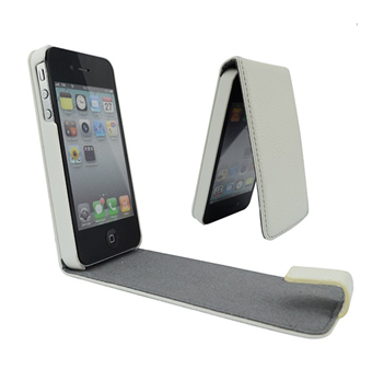 Image of   iPhone 4/4S Flap Etui (Hvid)