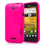 HTC ONE X - Silikone Cover (Magenta)