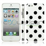 iPhone 5 Cover Dots (hvid, blå)