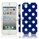 iPhone 5 Cover Dots (blå, hvid)