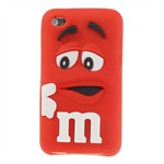 M&M iPod Touch 4 Silikone Cover (Rød)