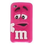 M&M iPod Touch 4 Silikone Cover (Magenta)