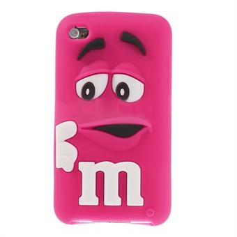 Image of   M&M iPod Touch 4 Silikone Cover (Magenta)