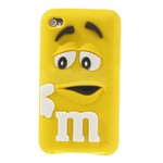 M&M iPod Touch 4 Silikone Cover (Gul)