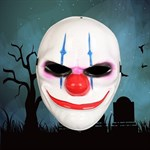 Crazy evil clown mask