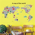 Wall Stickers - Map Of The World
