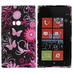 Motiv Silikone Cover til Lumia 920 (Butterfly)