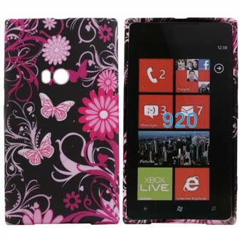 Image of   Motiv Silikone Cover til Lumia 920 (Butterfly)