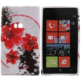 Image of   Motiv Silikone Cover til Lumia 920 (Flower)