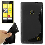 S-Line Silikone Cover Lumia 520 (Sort)