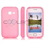 Galaxy Ace Duos Simpel Silikone cover (Pink)