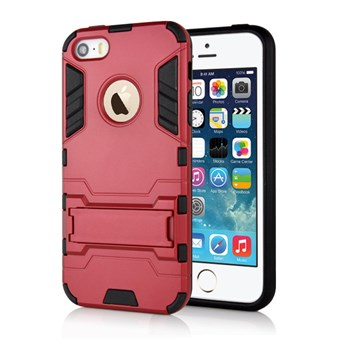 Image of   Cave hard plast- og TPU cover til iPhone 5/5S - Rød