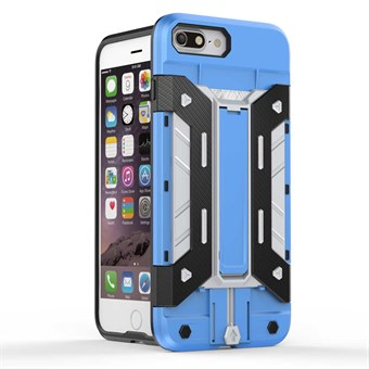 Image of   Robotta plast cover til iPhone 7 Plus / iPhone 8 Plus - Blå/Sølv