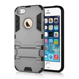 Image of   Cave hard plast- og TPU cover til iPhone 5/5S - Grå