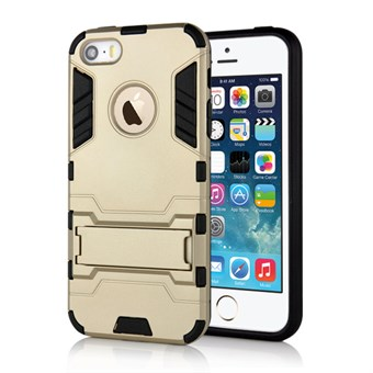 Image of   Cave hard plast- og TPU cover til iPhone 5/5S - Guld