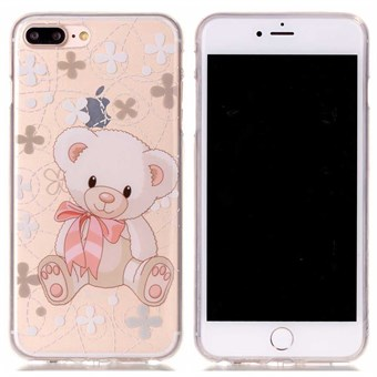 Image of   Designer motiv silikone cover til iPhone 7 Plus / iPhone 8 Plus - Cute bear