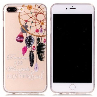 Image of   Designer motiv silikone cover til iPhone 7 Plus / iPhone 8 Plus - Windbell