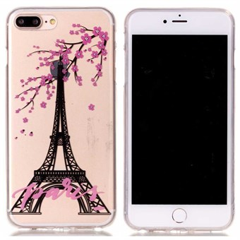 Image of   Designer motiv silikone cover til iPhone 7 Plus / iPhone 8 Plus - Eiffel tower
