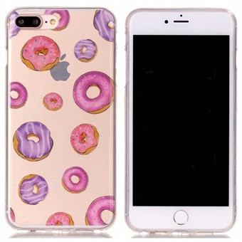 Image of   Designer motiv silikone cover til iPhone 7 Plus / iPhone 8 Plus - Donnuts