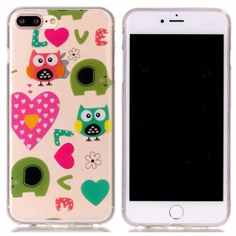 Image of   Designer motiv silikone cover til iPhone 7 Plus / iPhone 8 Plus - Cute Love