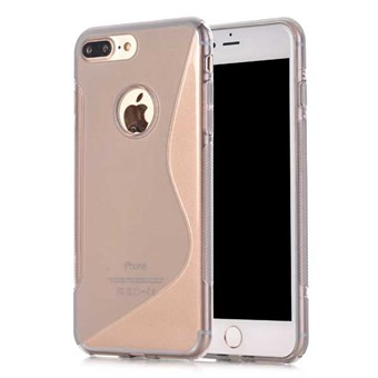 Image of   S-line silikone cover til iPhone 7 Plus / iPhone 8 Plus - Grå