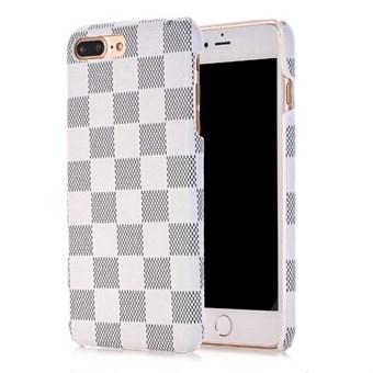 Image of   Ternet plastikcover til iPhone 7 Plus / iPhone 8 Plus - Hvid / grå