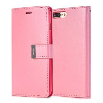 Image of   Mercury læderetui til iPhone 7 Plus / iPhone 8 Plus - Pink