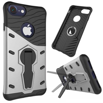 Image of   Stribes plast-/silikonecover til iPhone 7 / iPhone 8 - Sølv